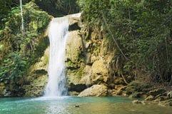 Cascata di Limon, Repubblica dominicana fotografia stock libera da diritti