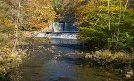 Abbassi la diga, la diga media e Wilson Creek Fotografie Stock