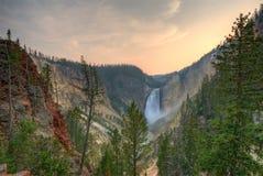 Abbassi le cadute. Yellowstone NP. Immagine Stock