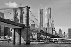 Abbassi mahattan ed un World Trade Center Fotografia Stock Libera da Diritti
