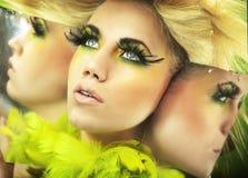 Abbastanza blonde Fotografie Stock