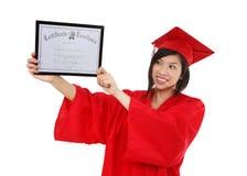 Abbastanza donna laureata dell'asiatico immagine stock