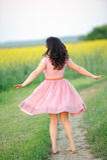 Abbastanza nel colore rosa Immagini Stock