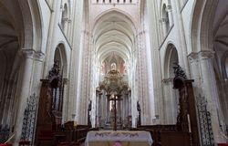 Abbatiale de la Trinite,  Fecamp, Normandie, Franc Stock Images