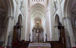 Abbatiale de la Benedictine, Fecamp, Normandie, Frankrike Arkivbilder