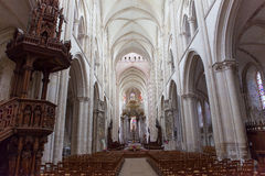 Abbatiale de la Benedictine, Fecamp, Normandie, Frankrike Arkivfoton