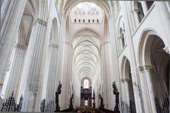 Abbatiale de la Tinite, Fecamp, Normandie, Frankrike Royaltyfri Foto