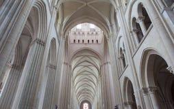 Abbatiale de la Tinite, Fecamp, Normandie, Frankrike Arkivbild
