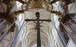 Abbatiale de la Trinite, Fecamp, Normandie, Frankrike Arkivbild
