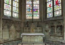 Abbatiale de la Trinite, Fecamp, Normandie, Frankrike Royaltyfria Bilder