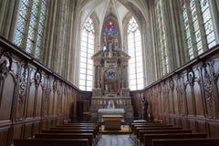 Abbatiale de la Trinite, Fecamp, Normandie, Frankrike Royaltyfria Foton