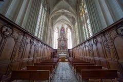 Abbatiale de la Trinite, Fecamp, Normandie, Frankrike Arkivfoton