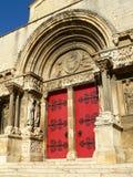 Abbatiale de St-Gil-du-Gard (Fra Foto de archivo libre de regalías