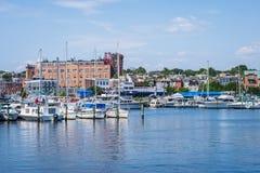 Abbatte il lungomare di cantone del punto a Baltimora, Maryland immagine stock libera da diritti
