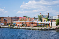 Abbatte il lungomare di cantone del punto a Baltimora, Maryland immagine stock