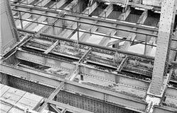 Abbau der alten Floridsdorfer-Brücke Lizenzfreies Stockbild