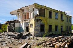Abbau der alten Gebäude Stockbilder