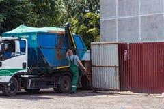 Abbau des städtischen Abfalls Lizenzfreie Stockbilder