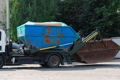 Abbau des städtischen Abfalls Stockfoto