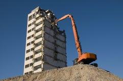 Abbau eines Hauses Stockfoto