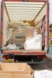 Abbau Packwagen oder LKW Stockbilder