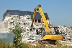 Abbau von Betonkonstruktionen Stockfotos