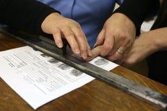 Abbau von Fingerabdrücken Stockfotografie