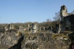 Abbay av Vauclair i Aisne, Frankrike Arkivbild