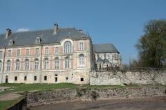 Abbay Saint Michel i Picardie, Frankrike Arkivfoto