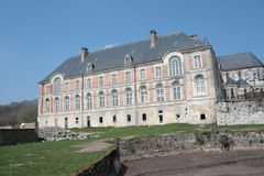 Abbay Saint Michel i Picardie, Frankrike Arkivfoton