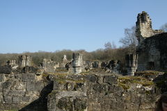 Abbay of Vauclair in Aisne, France Stock Photography