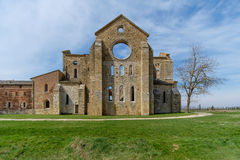 Abbaye antique de San Galgano en Toscane, Italie Photo stock