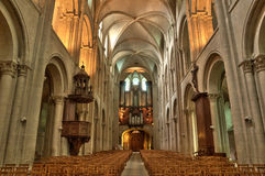 Abbaye aux Hommes in Normandie Royalty Free Stock Image