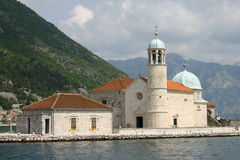 Abbaye bénédictine dans Perast Image stock