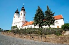 Abbaye bénédictine dans Tihany, Hongrie images libres de droits