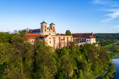 Abbaye bénédictine dans Tyniec, Pologne Photo libre de droits