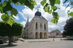 Abbaye bénédictine de Fleury au sur la Loire de St Benoit images stock