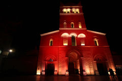 Abbaye d'Ainay during Festival of Lights Royalty Free Stock Photos