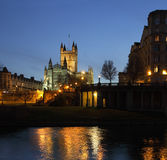 Abbaye de Bath - fleuve Avon - Bath - R-U photographie stock