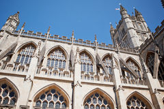 Abbaye de Bath un point de repère célèbre dans la ville de Bath en Somerset England Photo libre de droits