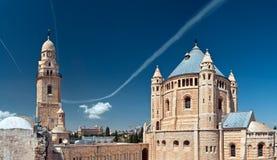 Abbaye de Dormition, le mont Sion. Image libre de droits