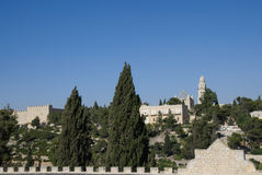 Abbaye de Dormition, support Zion, Jérusalem, Israël Images stock
