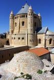 Abbaye de Dormition sur le support Zion Photographie stock libre de droits