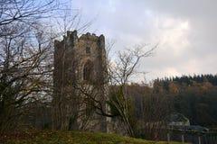 Abbaye de fontaines dans North Yorkshire image libre de droits