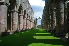 Abbaye de fontaines dans Yorkshire, Angleterre Photos libres de droits