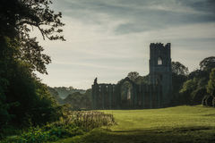 Abbaye de fontaines dans Yorkshire, Angleterre Photo stock