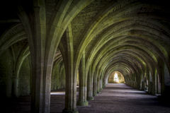 Abbaye de fontaines de Cellarium Image libre de droits