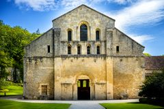Abbaye de Fontenay, Bourgogne, France image stock