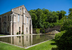 Abbaye de Fontenay in Burgunder, Frankreich Stockfotografie