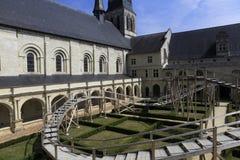 abbaye de fontevraud france val loire Royaltyfria Foton